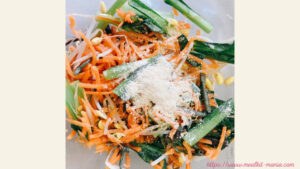 野菜セットでナムルを作る